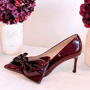 NWOT Zara Patent Leather Burgundy Heels